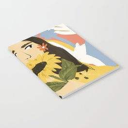Sunflowers In Your Face Notebook