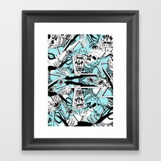 Crash & Burn Framed Art Print