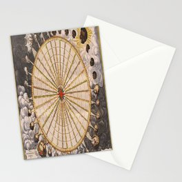 1657 Winds of the Earth by Jan Janszon Stationery Cards