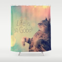 Dancing Kitty Cat Shower Curtain