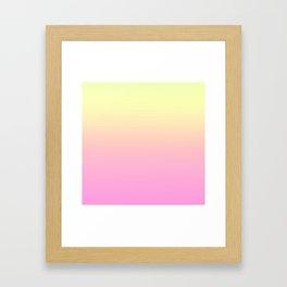 PEACH DREAMS - Minimal Plain Soft Mood Color Blend Prints Framed Art Print