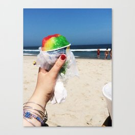 Summer SnowCone at the Jersey Shore Canvas Print