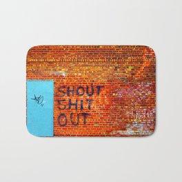 Shout Shit Out.  Bath Mat