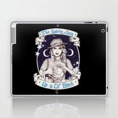 Mystic Miss Maggie Esmerelda (b&w) Laptop & iPad Skin