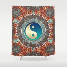 Bohemian Batik Yin Yang Shower Curtain