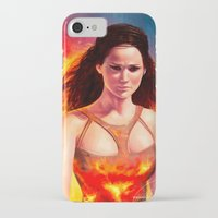 katniss iPhone & iPod Cases featuring Katniss by Strannaya Anna