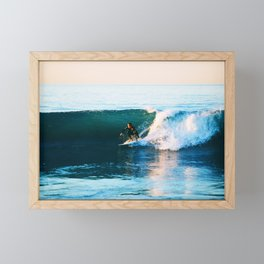 Warm Surf Framed Mini Art Print