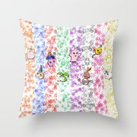 digimon Throw Pillows featuring Digimon 15th Anniversary by AbigailC