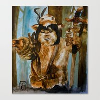 ewok Canvas Prints featuring Ewok Shaman by Tuesday Glennan