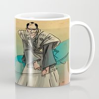 samurai Mugs featuring Samurai by David Finley