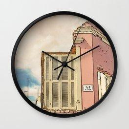 Downfall - Demolition building Wall Clock