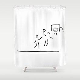 basketball usa basketball player Shower Curtain