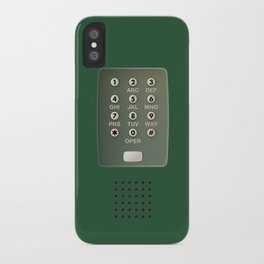 Vintage Touch-Tone Green iPhone Case