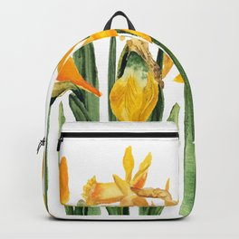 watercolor yellow narcissus Backpack