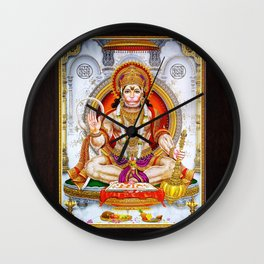 Hindu Hanuman Monkey God 5 Wall Clock
