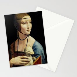 THE LADY WITH AN ERMINE - DA VINCI Stationery Cards