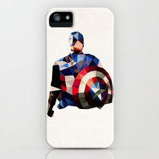 Polygon Heroes - Captain America Slim Case iPhone (5, 5s)