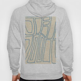 Blue Line Abstract Hoody