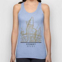 SYDNEY AUSTRALIA CITY STREET MAP ART Unisex Tank Top