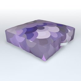 Purple Scales Outdoor Floor Cushion