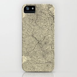 The Great Smoky Mountains National Park Map (1935) iPhone Case