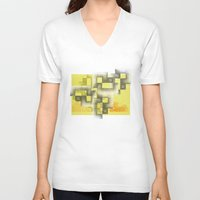 labyrinth V-neck T-shirts featuring Labyrinth by Sally Rud
