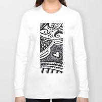 zentangle Long Sleeve T-shirts featuring Zentangle by Wealie