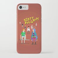 scott pilgrim iPhone & iPod Cases featuring Pixel Art Scott Pilgrim by LoweakGraph