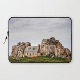 House between rocks in Brittany, Castel Meur Laptop Sleeve