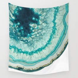 On the edge of an icy agate abyss Wall Tapestry