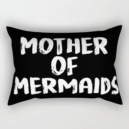 Mother of Mermaids (White on Dark Bkgrnd) Rectangular Pillow