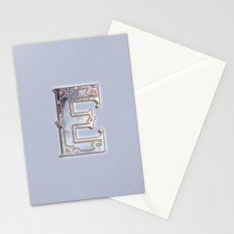E letter monogram Stationery Cards