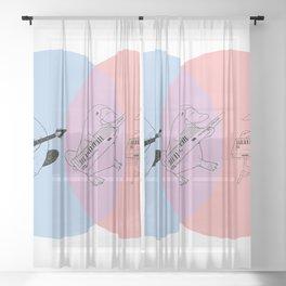 Keytar Platypus BPR Sheer Curtain