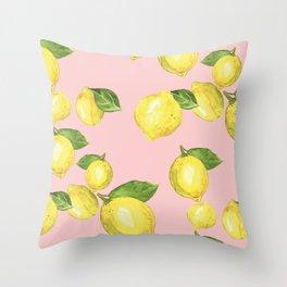 Juicy Lemons Throw Pillow