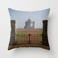the national Throw Pillows featuring Necropole National by davehare