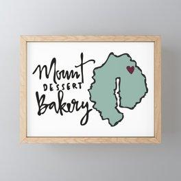 Mount Dessert Bakery Logo Framed Mini Art Print
