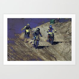 The Home Stretch - Motocross Racers Art Print
