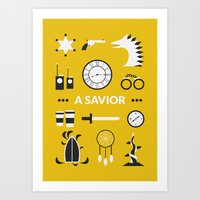 ouat Art Prints featuring OUAT - A Savior by Redel Bautista