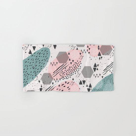 Geometric shapes & strokes Hand & Bath Towel