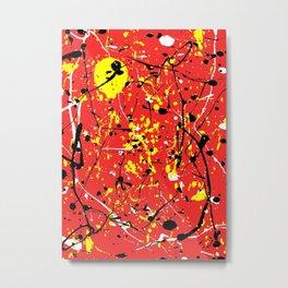 Red Yellow Black White Metal Print