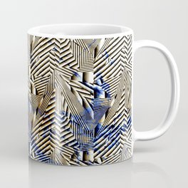 Optical Illusion: Geometric Weave Texture Design Coffee Mug