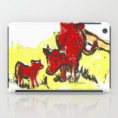 Big moo, wee moo (colored version) iPad Case