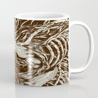 lines Mugs featuring doe-eyed by Teagan White