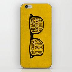 Hipster - yellow iPhone & iPod Skin