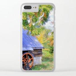 Barn Autumn Landscape Clear iPhone Case