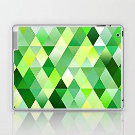 Lime Green Yellow White Diamond Triangles Mosaic Pattern Laptop & iPad Skin
