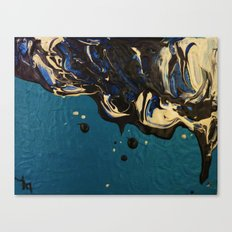 Oil and water - Oilspill Canvas Print