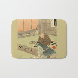 A professional writing man and an audience Bath Mat