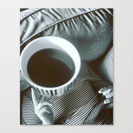 Coffee thinks Canvas Print