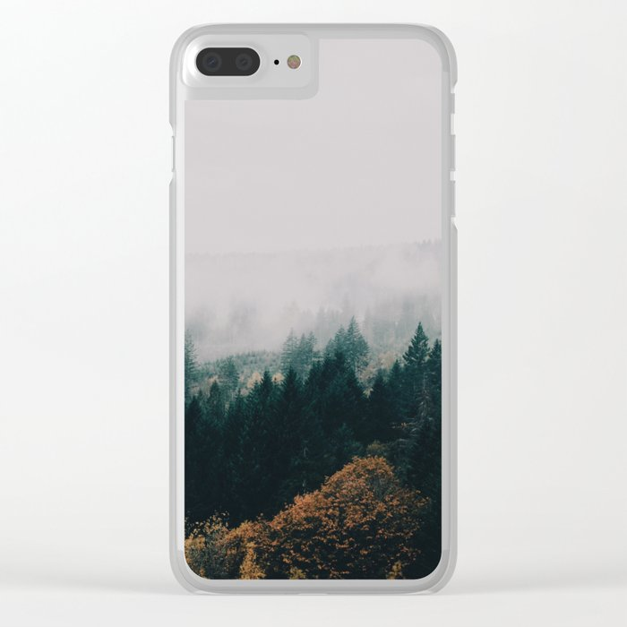 Forest Fog Clear iPhone Case
